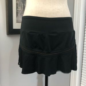 Nike black sport skirt shorts size medium